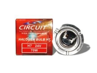 CIRCUIT HALOGEN BULB 24V/70W (H7) H7 24V/70W   S#00182
