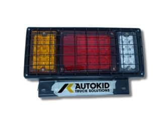 TAIL LIGHT 3 LENS W/ GRILL 24V LED RH M1391 | BP#00249